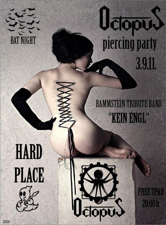 Najava koncerta – OCTOPUS piercing party, Hard Place, Zagreb, 03.09.2011.