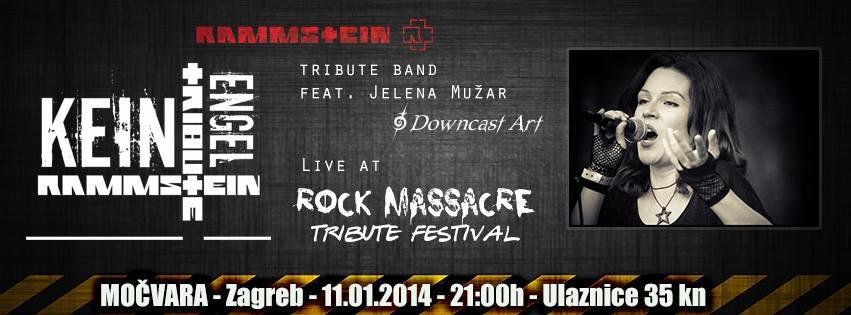 Kein Engel feat. Jelena Mužar, 3. ROCK MASSACRE TRIBUTE FESTIVAL, Močvara, 11.01.2014.