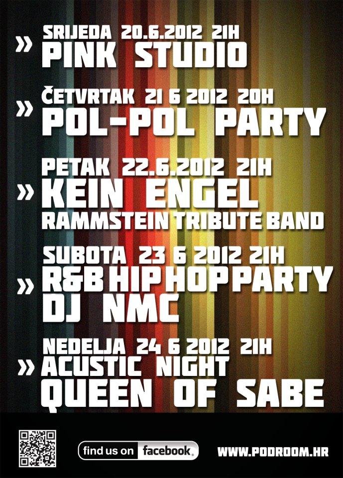 Najava koncerta - Podroom Drink&Music Club, Čakovec, 22.06.2012.