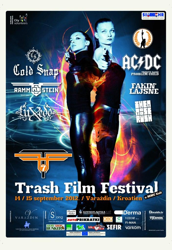 Najava koncerta – TRASH FILM FESTIVAL, Varaždin, 15.09.2012.