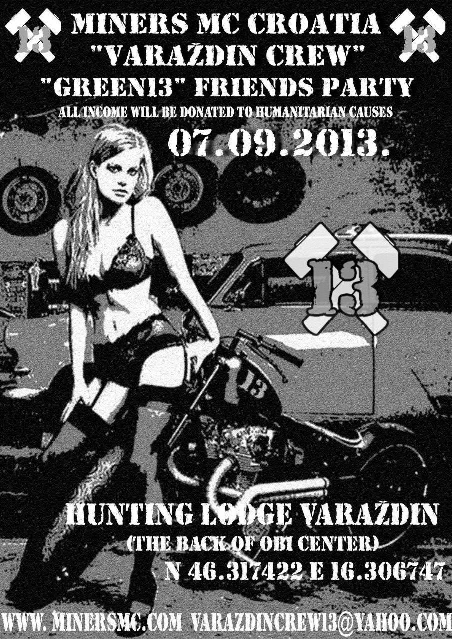 "Najava koncerta – ""GREEN13"" FRIENDS PARTY, Varaždin, 07.09.2013."