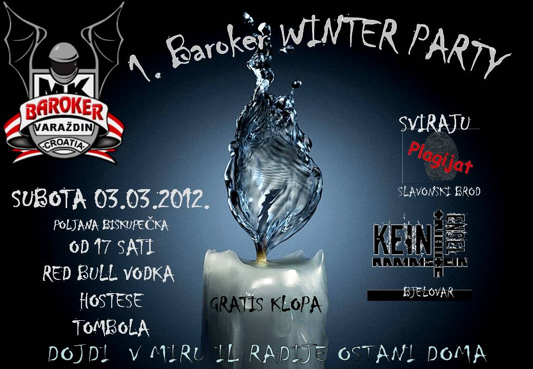 Najava koncerta - Winter Moto Party, MK Baroker, Varaždin, 03.03.2012.