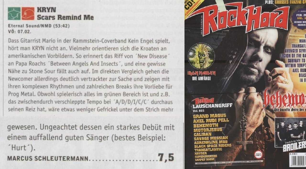 KRYN Review RockHard Magazine