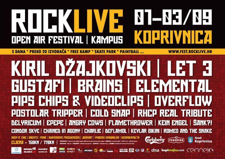 Najava koncerta - RockLive Fest, Koprivnica, 01.09.2011.