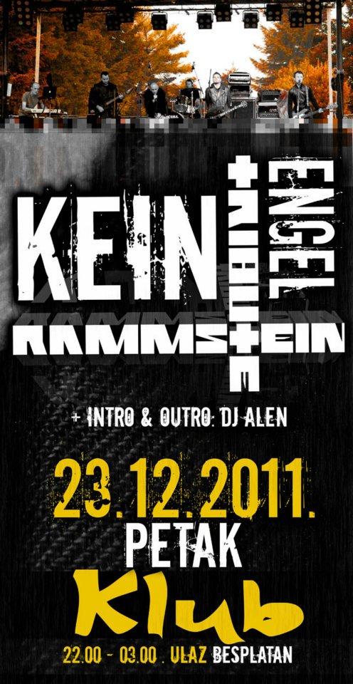 Najava koncerta – Klub, Bjelovar, 23.12.2011.