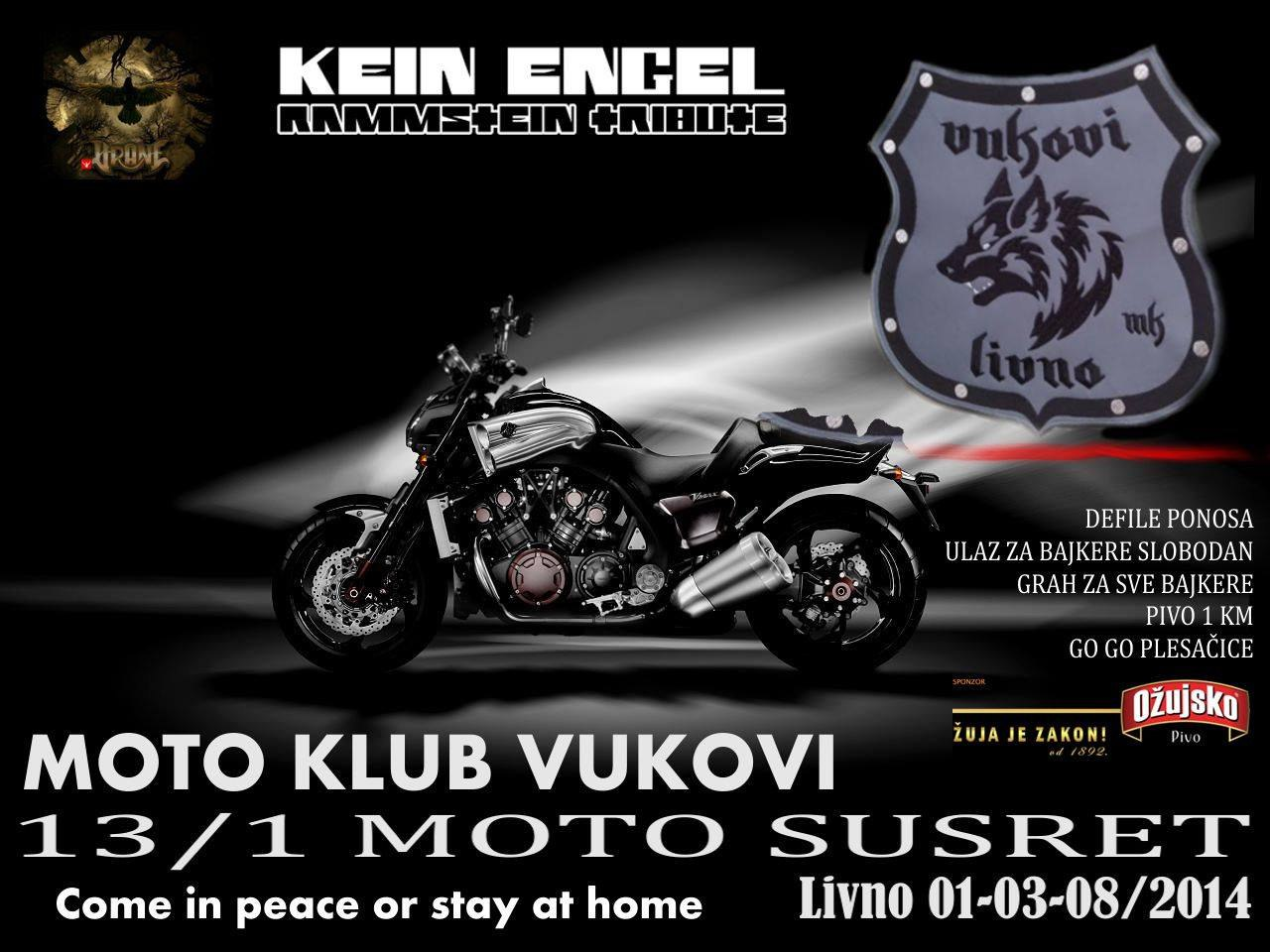 Kein Engel @ MK Vukovi Livno Moto Party 2014