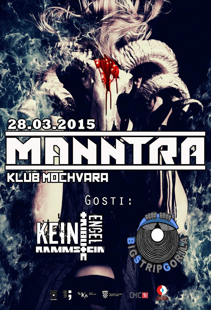 Manntra, Kein Engel Rammstein Tribute, Mochvara, Zagreb, 28.03.2015.